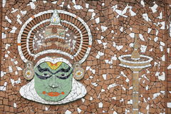 kathakaliväggmålning Royaltyfri Fotografi