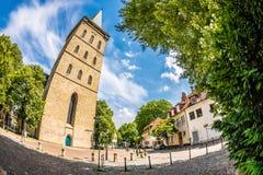 Katharinenkirche em Osnabrueck, Alemanha foto de stock