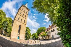 Katharinenkirche in Osnabrueck, Germany. Photo was taken with a fisheye lens Stock Photo