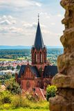 The gothic Katharinenkirche in Oppenheim in Rheinhessen. The Katharinenkirche St. Catherine`s church in Oppenheim, Germany, is regarded as an important Gothic royalty free stock photo