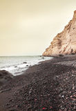 Katharos beach at Oia of Santorini island Royalty Free Stock Images