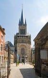 Kathedraal in Aken, Duitsland stock foto's