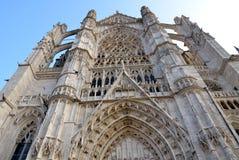 Kathedraal in Beauvais, Frankrijk Stock Foto's