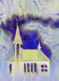 Kathedraal bij stormachtige dag Stock Foto's