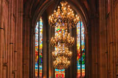 Kathedraal binnen Royalty-vrije Stock Afbeelding