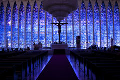 Kathedraal in Brasilia Stock Afbeeldingen