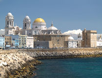 Kathedraal in Cadiz, Spanje Stock Afbeeldingen