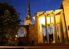 Kathedraal, Coventry, Engeland. stock foto