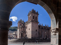 Kathedraal Cusco Peru Royalty-vrije Stock Foto's