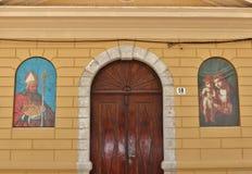 Kathedraal in de Oude Stad van Krk Stock Foto