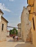 Kathedraal in de Oude Stad van Krk Royalty-vrije Stock Foto's