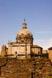 Kathedraal in de oude stad van Rome Stock Afbeelding