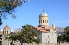 Kathedraal in de stad van Gori, het gebied van Shida Kartli, Georgië Stock Afbeeldingen
