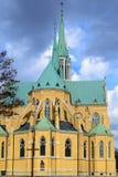 Kathedraal in de stad van Lodz, Polen stock afbeelding