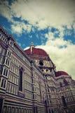 Kathedraal door de architect Brunelleschi en groot g wordt ontworpen dat royalty-vrije stock afbeeldingen