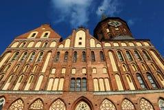 Kathedraal in een kaliningradstad Royalty-vrije Stock Afbeeldingen