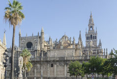 Kathedraal en GIralda-Toren, Sevilla, Spanje Stock Foto