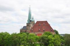 Kathedraal en Kerk van Heilige Severus in Erfurt royalty-vrije stock fotografie