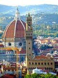 Kathedraal en Palazzo Vecchio Stock Afbeeldingen
