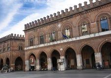 Kathedraal en Torrazzo, Cremona royalty-vrije stock afbeelding