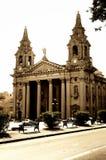 Kathedraal in Floriana, Valletta, Malta Stock Afbeelding