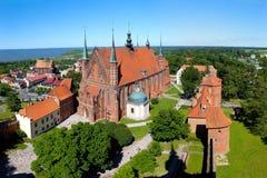 Kathedraal in Frombork, Polen Stock Afbeelding