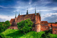 Kathedraal in Frombork, Polen Royalty-vrije Stock Foto