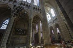 Kathedraal Heilige Gervais Saint Protais in Soissons, Frankrijk Stock Afbeelding