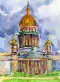 Kathedraal in Heilige Petersburg vector illustratie