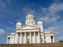 Kathedraal in Helsinki stock afbeeldingen