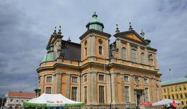 Kathedraal in Kalmar, Zweden Royalty-vrije Stock Foto's