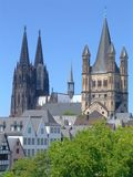 Kathedraal in Keulen Stock Foto