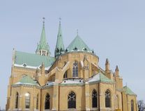 Kathedraal, Lodz, Polen Royalty-vrije Stock Afbeelding