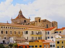 Kathedraal in Mahon op Minorca Stock Foto's
