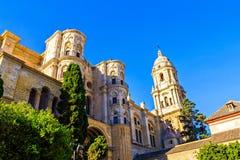 Kathedraal in Malaga Stock Afbeeldingen