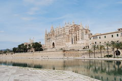 Kathedraal in Mallorca stock afbeeldingen
