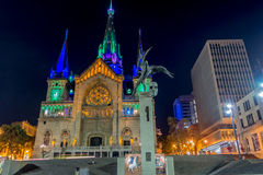 Kathedraal in Manizales, Colombia Stock Afbeelding