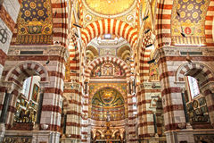 Kathedraal in Marseille, Frankrijk Stock Fotografie