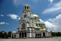 Kathedraal met wolken Royalty-vrije Stock Afbeeldingen