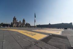 Kathedraal metropolitana DE La ciudad DE Mexico op Zocalo-vierkant Stock Foto