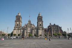 Kathedraal metropolitana DE La ciudad DE Mexico op Zocalo-vierkant Royalty-vrije Stock Afbeeldingen