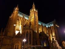 Kathedraal in Mets stock foto