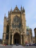 Kathedraal Metz stock foto's