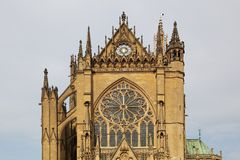Kathedraal in Metz, Frankrijk Stock Foto's