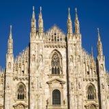 Kathedraal in Milaan Stock Afbeeldingen