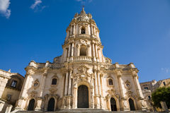 Kathedraal, Modica, Sicilië Stock Foto's