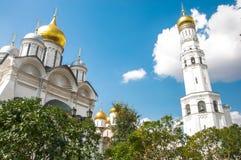 Kathedraal in Moskou het Kremlin Stock Afbeelding
