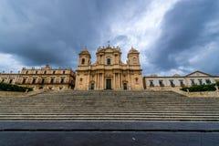 Kathedraal in Noto Royalty-vrije Stock Afbeelding