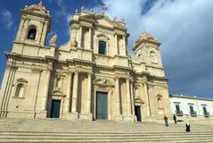 Kathedraal in Noto, Sicilië Stock Foto