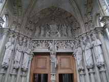 Kathedraal Notre-Dame in Lausanne in Zwitserland Stock Afbeelding